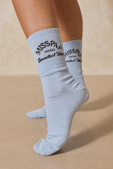 Blue Misspap Essential Wear Socks