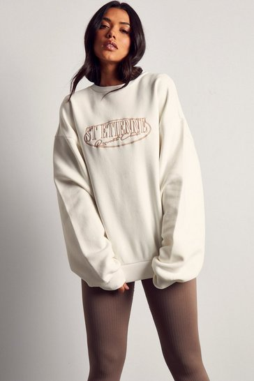Off white St Etienne Slogan Oversized Sweatshirt