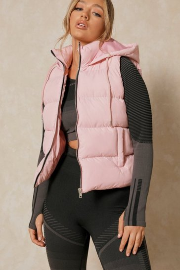 Nude Hooded Puffer Gilet Jacket