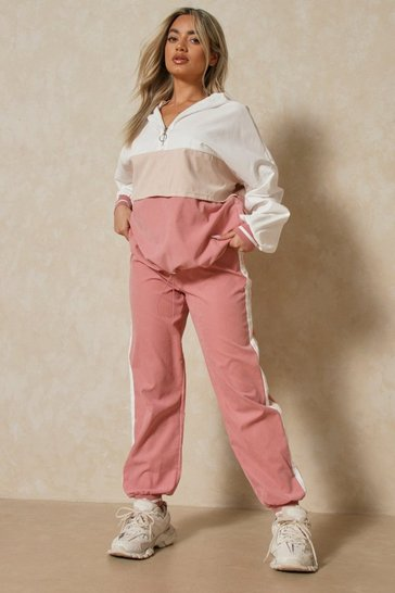 Blush Colour Block 3/4 Zip Tracksuit