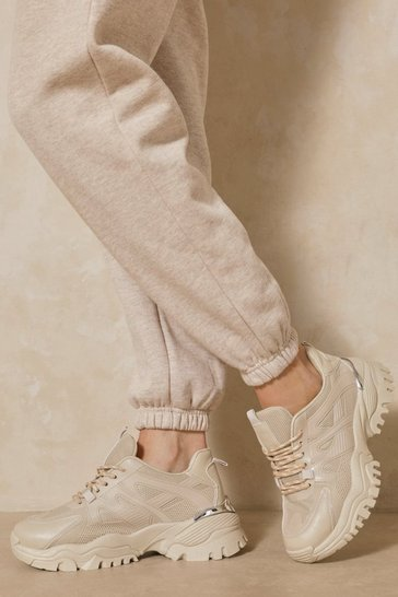 Stone Chunky Cleated Sole Sneakers