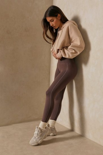 Coffee High Waisted Activewear Leggings