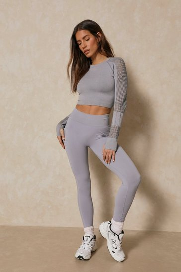 Grey High Waisted Activewear Leggings