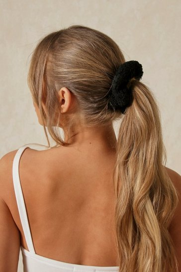 Black Teddy Scrunchie