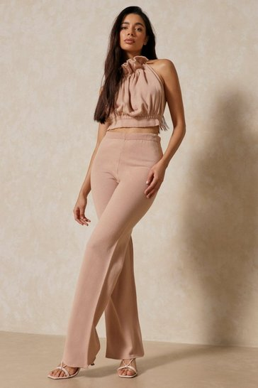 Blush Knitted Straight Leg Trouser
