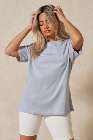 Blue Oversized Boyfriend T-shirt