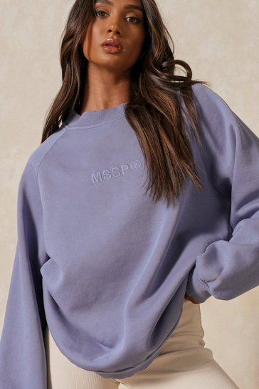 Ink MSSP Branded Seam Detail Oversized Sweatshirt
