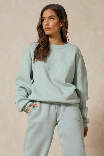 Sage Couture Embroidered Sweatshirt