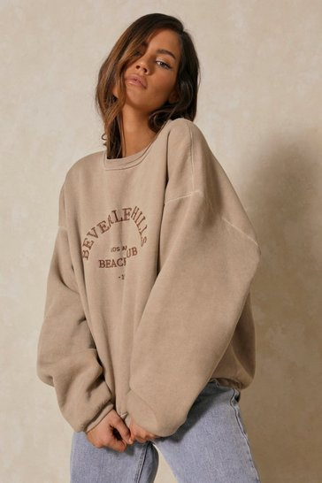 Stone Beverley Hills Embroidered Oversized Sweatshirt