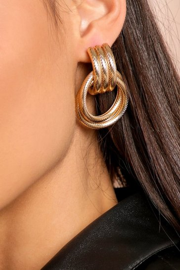 Gold Knot Twist Earring