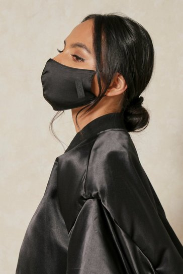 Black MISSPAP Satin Skin Tone Fashion Face Mask
