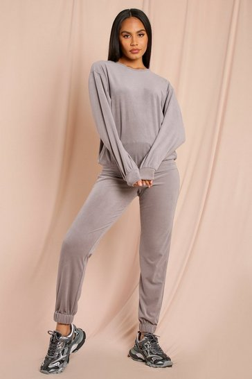 Light grey Super Soft Oversized Cord Jogger
