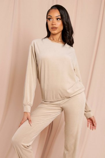 Cream Super Soft Cord Oversized Jumper