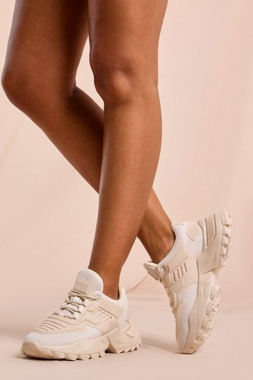 Nude Chunky Embossed Detail Trainers