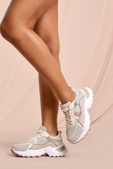 Grey Chunky Platform Multi Trainers