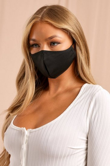 Black Antibacterial Reusable Face Mask