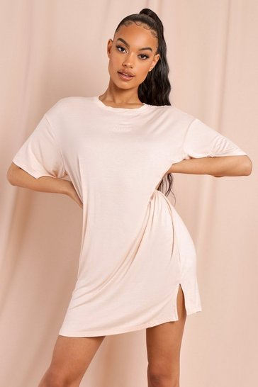 Stone Misspap Branded T-shirt Dress