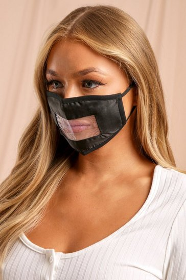 Black Clear Window Fashion Face Mask
