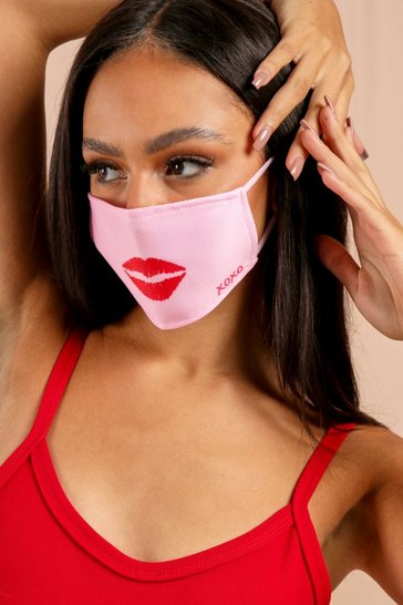 Pink Lips Fashion Face Mask