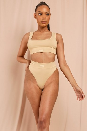 Camel MISSPAP Label High Waisted Briefs