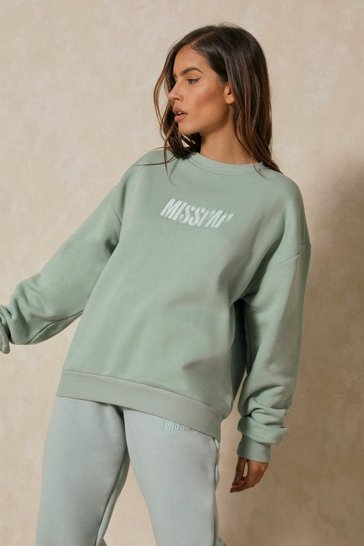 Sage MISSPAP Embroidered Oversized Sweater