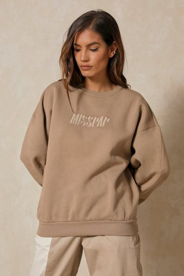 Stone MISSPAP Embroidered Oversized Sweater