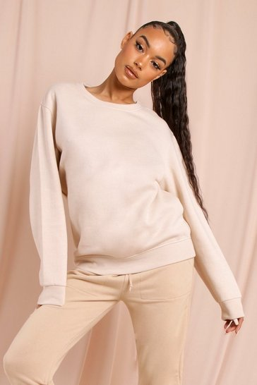 Stone Basic Oversized Sweatshirt