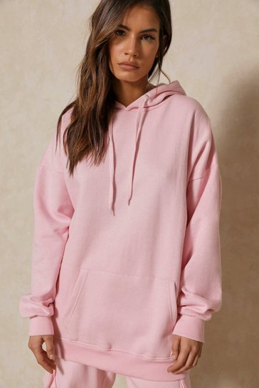 Pale pink Basic Oversized Hoodie
