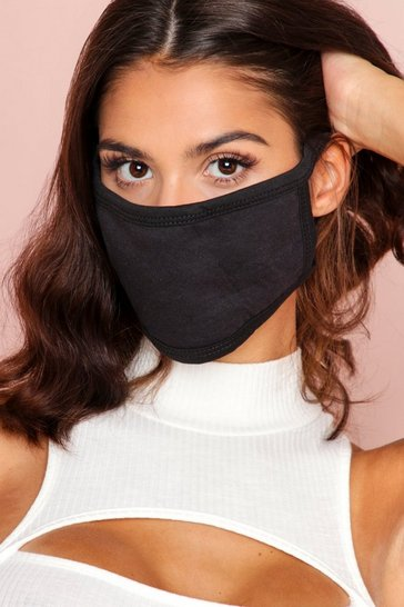 Black Fashion Face Mask