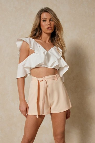 Stone Tailored Relaxed Shorts