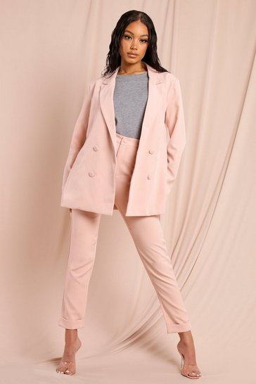 Pink Tailored Slim Leg Trouser