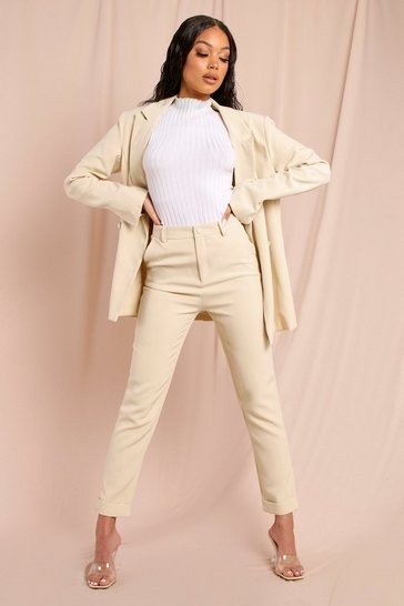 Sand Tailored Slim Leg Trouser
