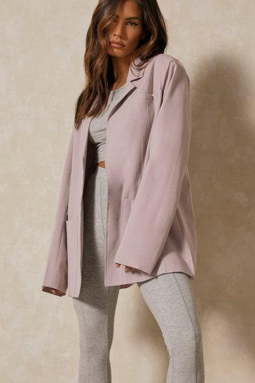 Grey Lined Oversized Blazer