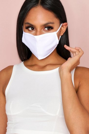 White Plain Fashion Face Mask