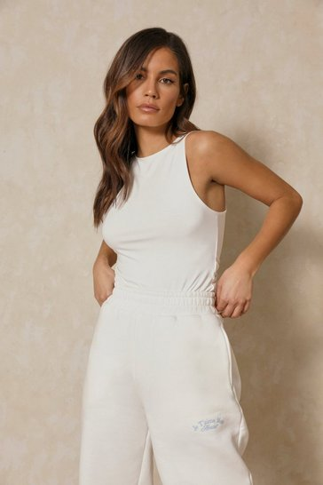 Cream Double Layer Bodysuit