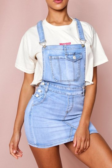 Light wash Denim Dungaree Dress
