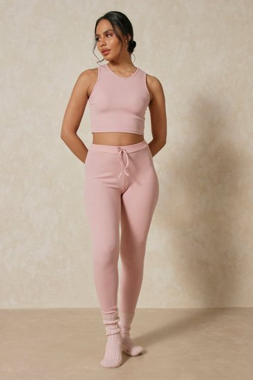 Rose Rib Legging and Crop PJ Set