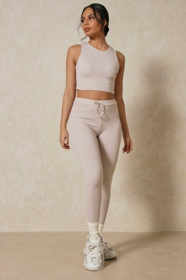 Stone Rib Legging And Crop PJ Set
