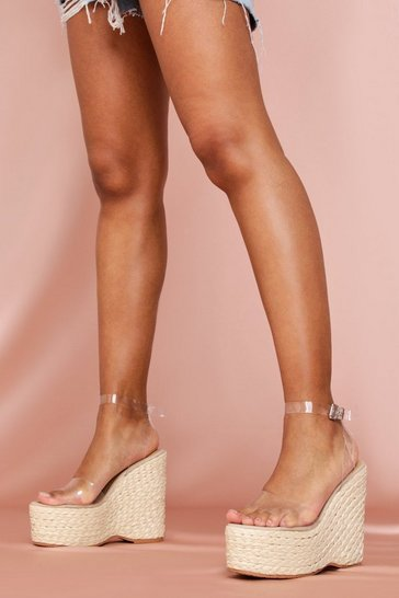 Clear Strap Wedges