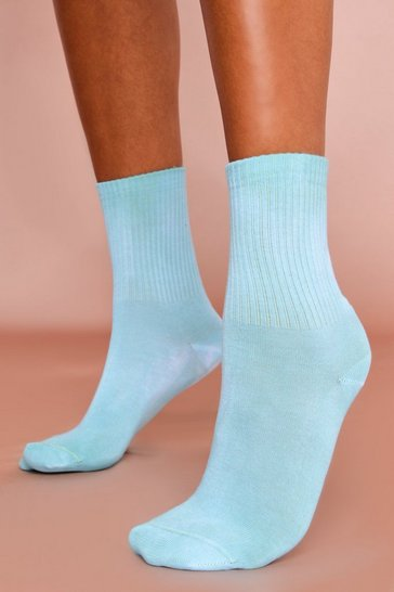 Green Tie Dye Ankle Socks