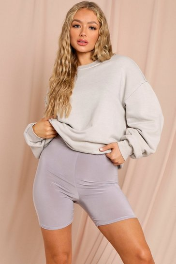 Light grey Basic Cycling Shorts