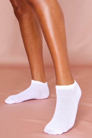 White 3 Pack Basic Trainer Sock
