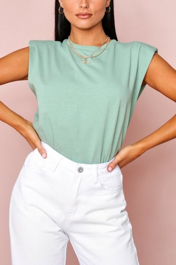 Mint Shoulder Pad T-Shirt