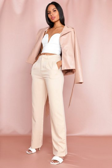 Blush Woven Wide Leg Trouser