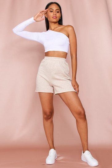 Oatmeal Longline Sweat Shorts