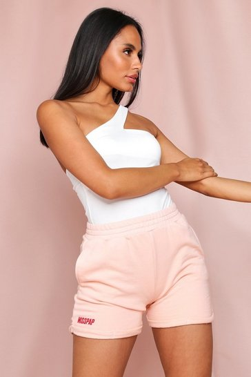 Peach MISSPAP Branded Jog Short