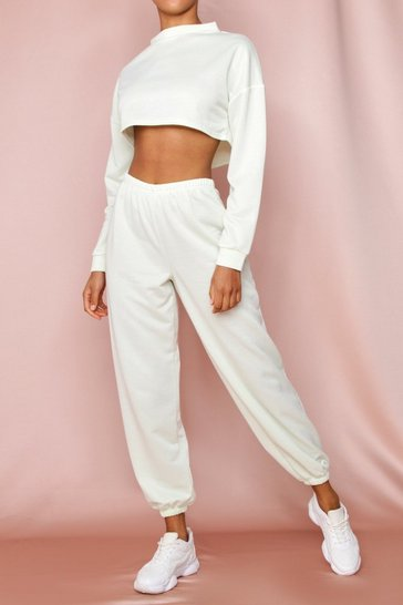 Mint Loop Back Oversized Jogger