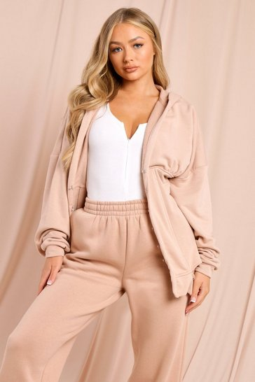 Peach Hooded Corset Detail Jacket