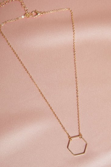 Gold Delicate Hexagon Choker