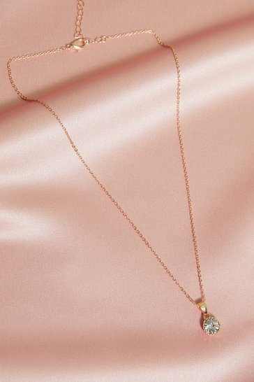Gold Diamante Pendant Necklace